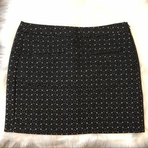 NWOT Gap Black & Silver Mini Skirt Size 0
